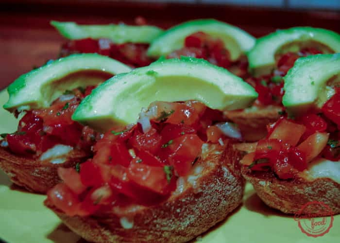 Mexican bruschetta.