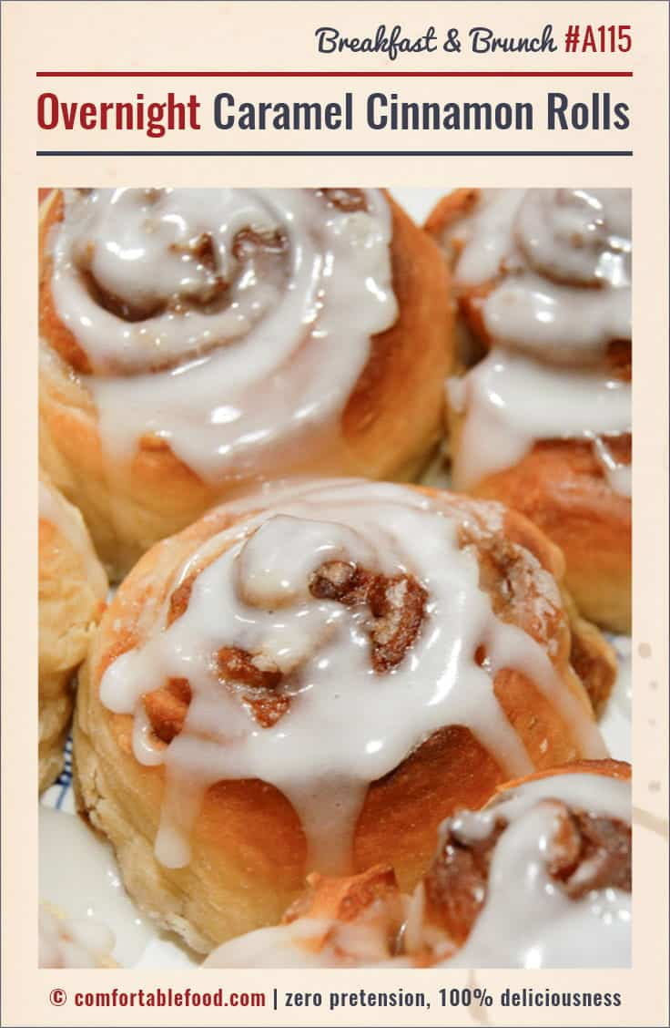An easy, overnight caramel cinnamon roll recipe.