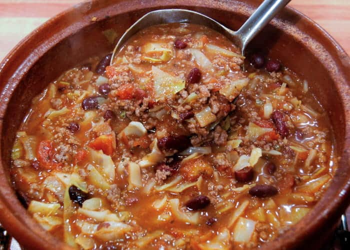 Super Easy Beef and Cabbage Soup from Comfortable Food.