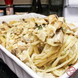Rich and Creamy Chicken Tetrazzini Casserole & Video