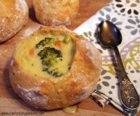 Broccoli Cheddar Soup with Artisan Bread Bowls ...