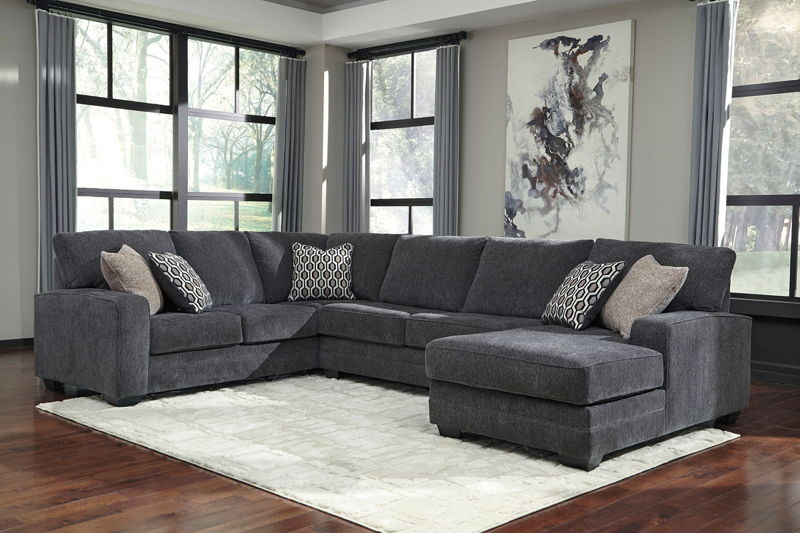 tracling slate laf sofa armless loveseat raf corner chaise sectional