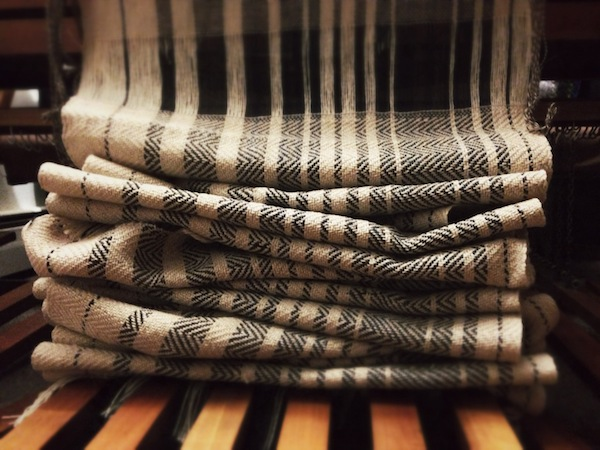 A series of scarves that I wove off the loom New Year's Day.