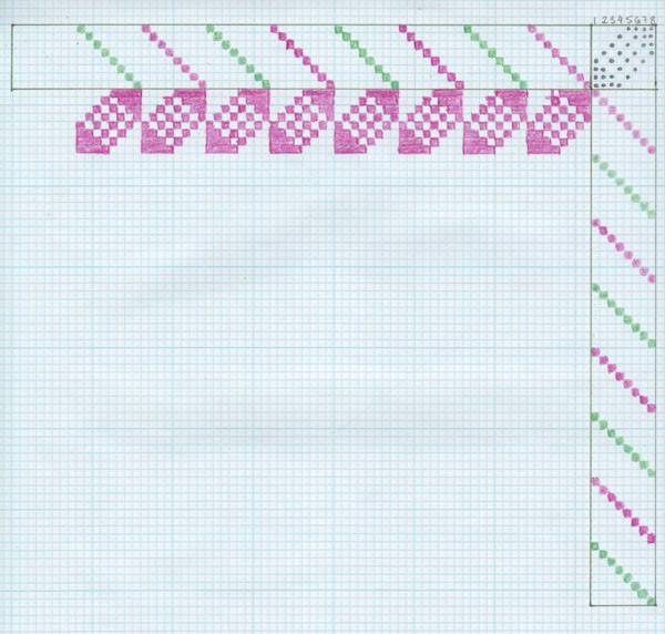 One repeat of the pattern.