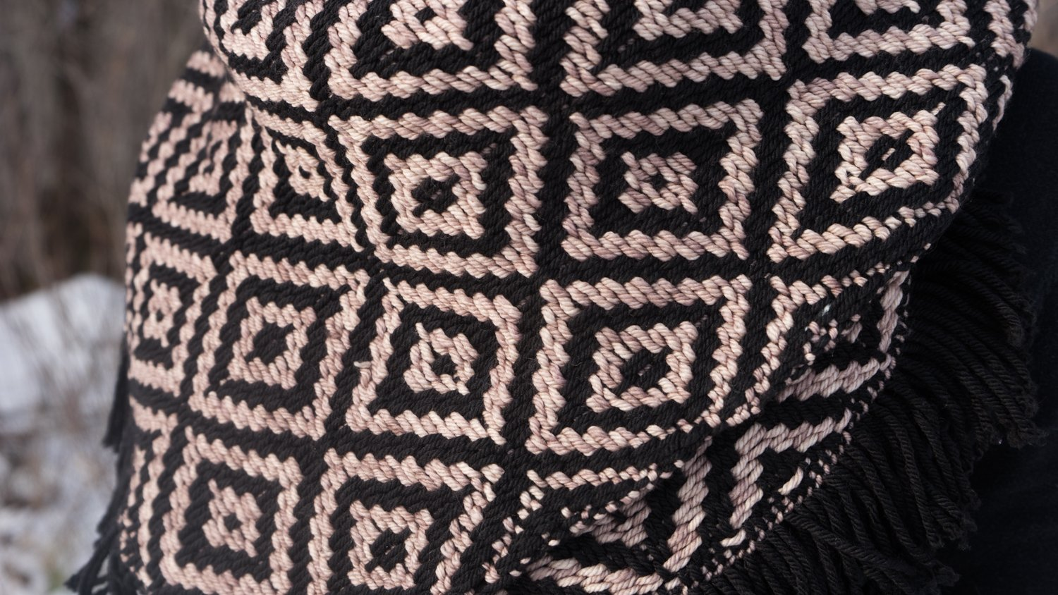 Black/Sand Bank Kerchief Detail