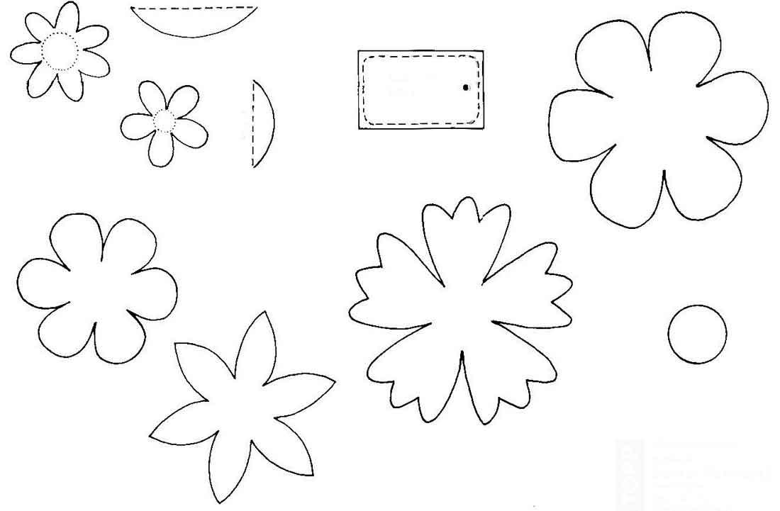 Трафарет цветов для открытки, картинки про