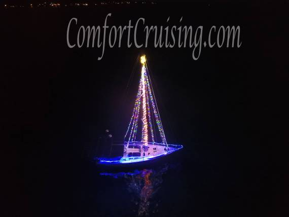 Sailboat Christmas Tree Lights