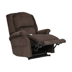 Infinite Position Recliner Power Lift Chair Leather And Wood With Ottoman Mega Motion As 3002 By