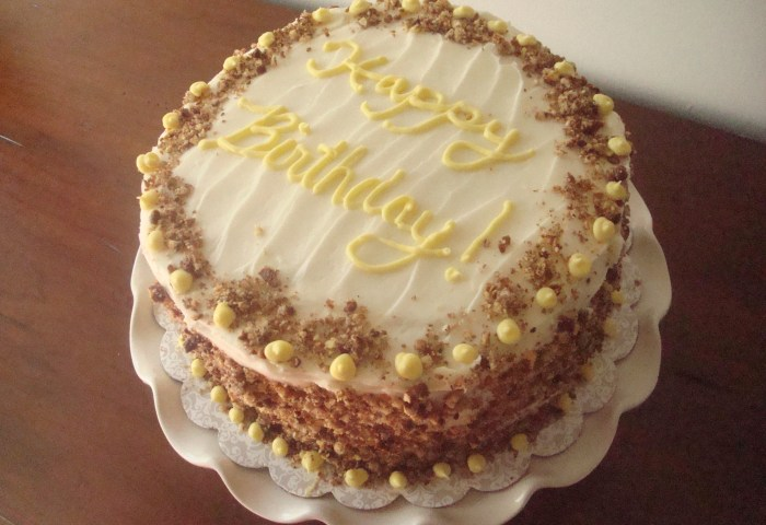 Oatmeal Birthday Cake With Cream Cheese Frosting Kitchenbelle