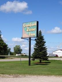 Comfort Zone Inn - Front Sign Inncomfort