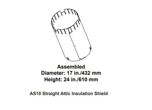 Majestic AS10 Straight Attic Insulation Shield