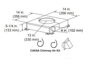 Majestic CAK5A Chimney Air Kit