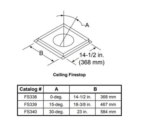 Majestic FS339 Ceiling Firestop