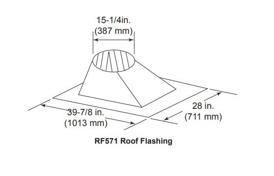 Majestic RF571 Roof Flashing