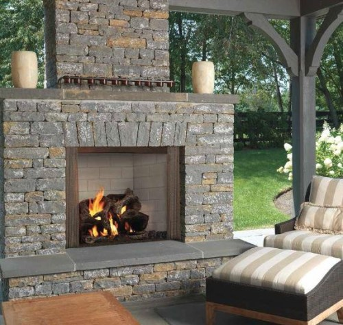 Majestic Castlewood 42 Outdoor Wood Fireplace