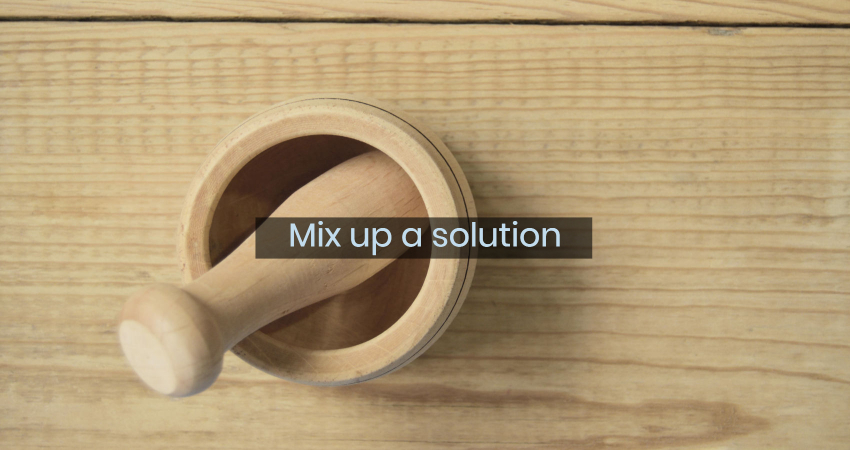 mix up solution
