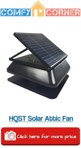 HQST Solar Powered Roof Mount Attic Fan
