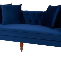 Fabric Chesterfield Sofa Bed Uk Outdoor Sets Clearance Wooden  Navy Blue