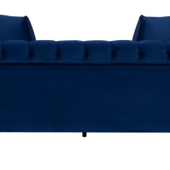 Navy Leather Chesterfield Sofa Modern Contemporary Sofas Fabric Wooden  Blue