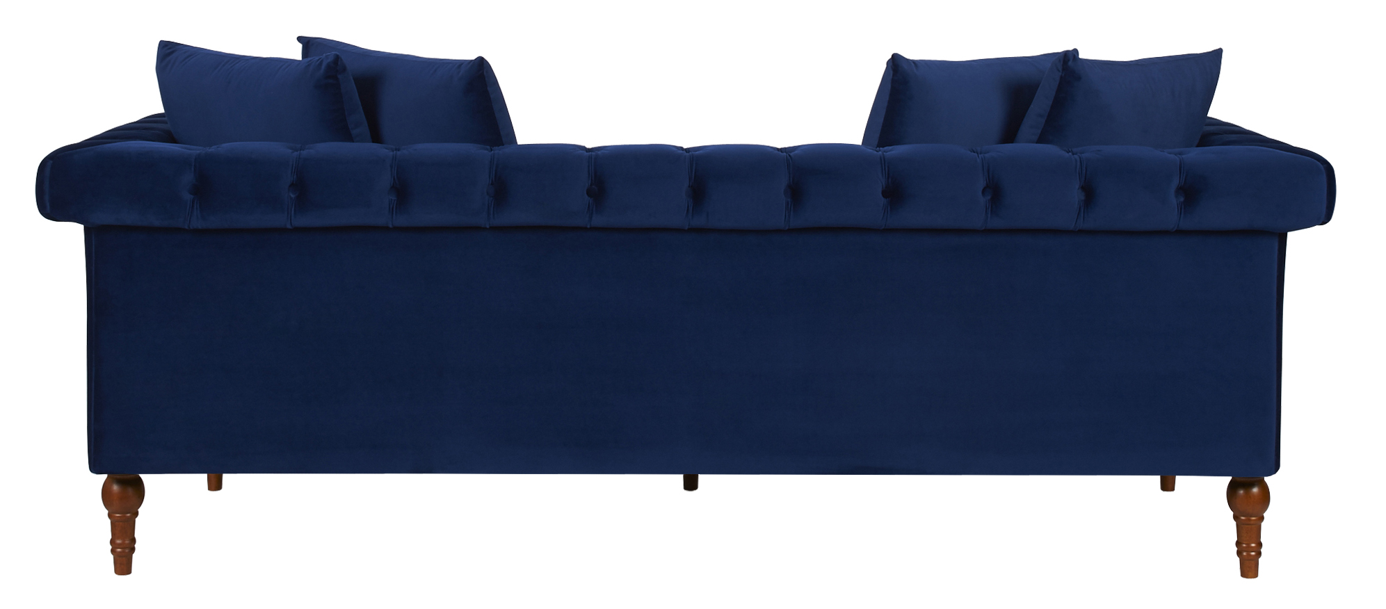 fabric chesterfield sofa bed uk doctor dc wooden  navy blue