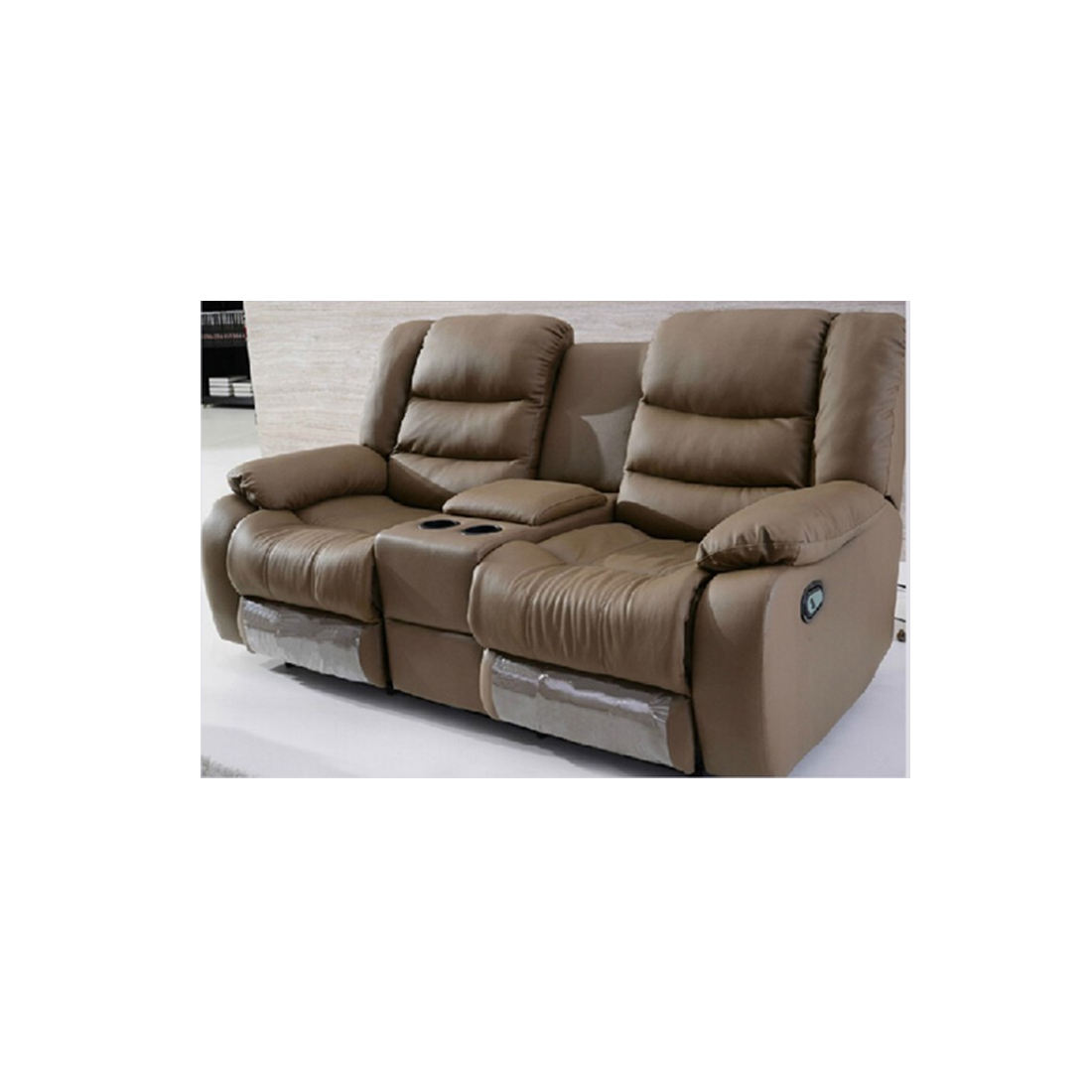 Yamas Recliner Leather Sofa With Cupholders Comfyland