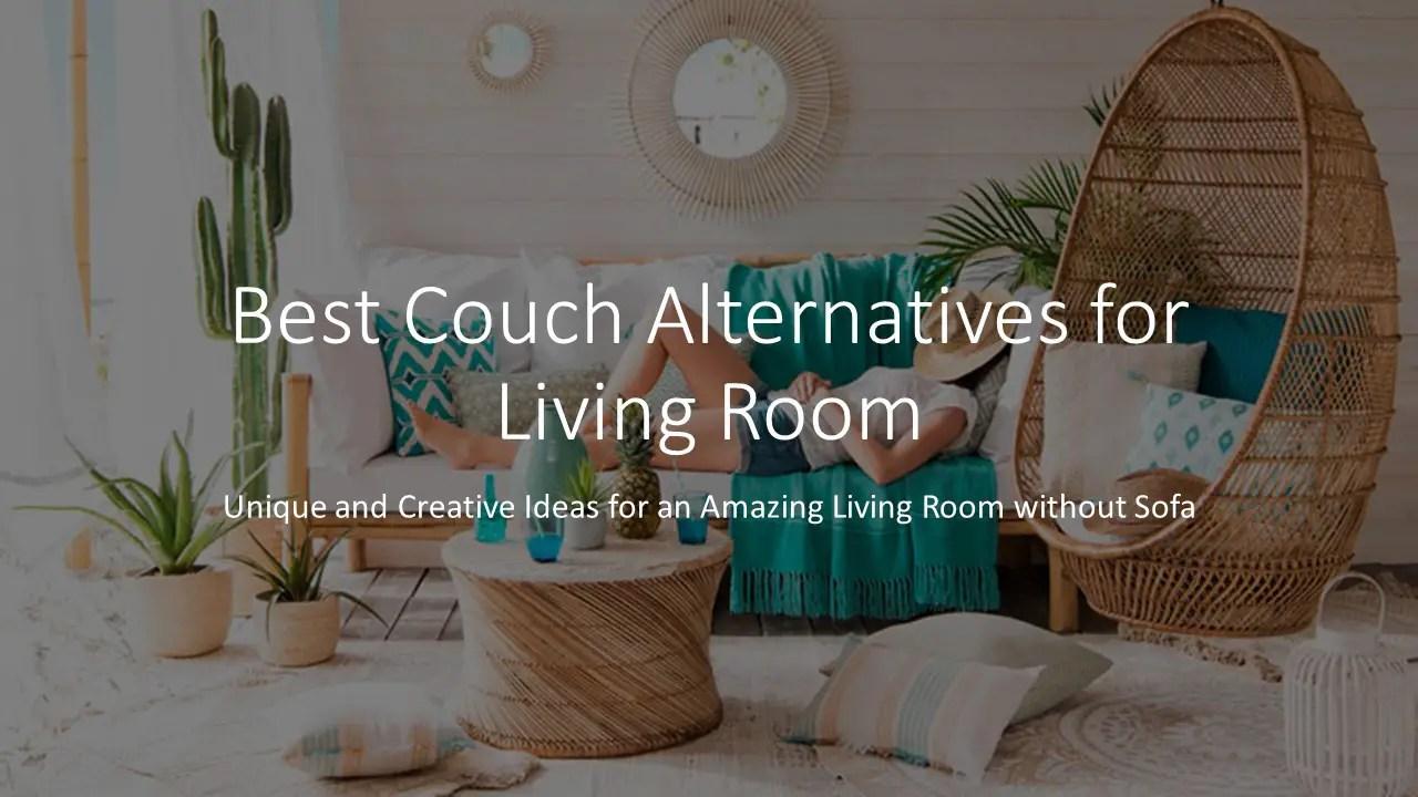 12 Couch Alternatives: Unique & Creative Ideas For No Sofa Living Room