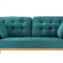 Misty Mid Century Modern Tufted Velvet Sofa