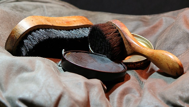 leather polishing brushes and polish