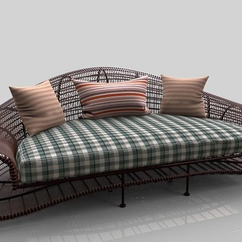 unique sofa with 3 cushions