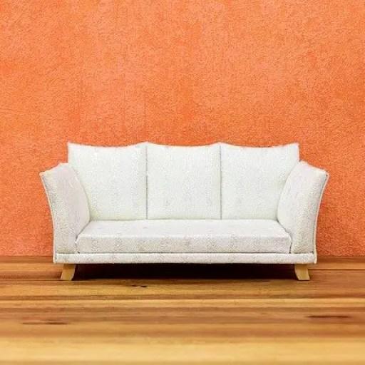 white sofa in a hallway