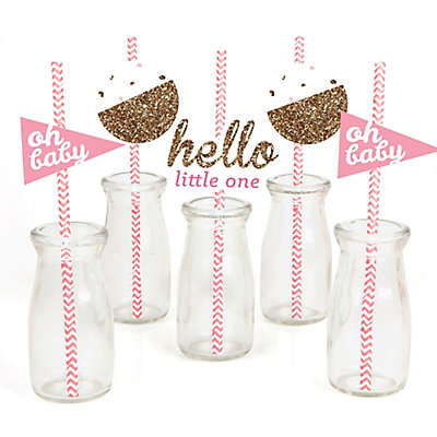 Hello-Little-One-Girl-Straw-Decoration-Kit