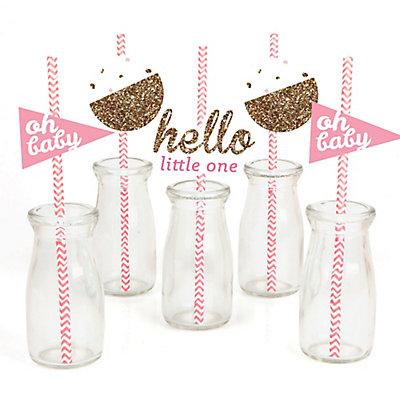 Hello-Little-One-Girl-Straw-Decoration-Kit
