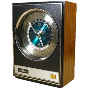 1970s Vintage MCM World Clock by Howard Miller