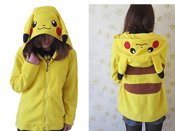 Apparel-Hoodie-Pokemon Unisex Polar Fleece Lovely Pikachu Kigurumi hoodie.png