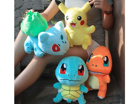Plush-Pokemon-4pcs. Pokemon Plush Toys Pikachu & Bulbasaur & Squirtle & Charmander.png
