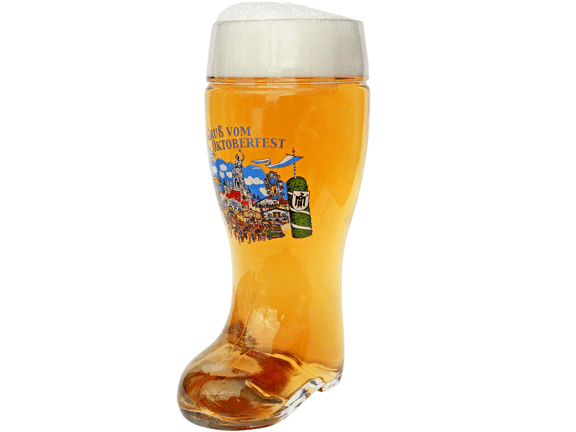 Glass-Beer Glass-Oktoberfest Glass Beer Boot 1 Liter.png