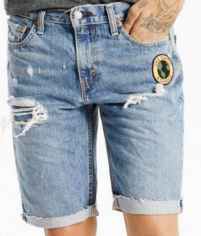 denim-shorts-men-slim-fit-fray-earth-levis