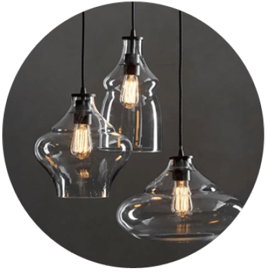 McCarthy 3-Light Glass Pendant