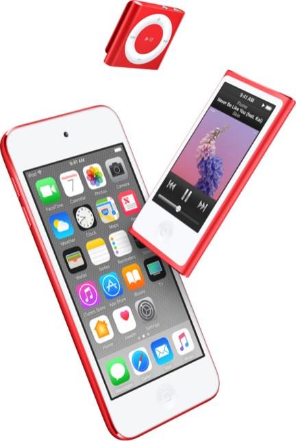 (RED) iPod Shuffle, Nano & Touch