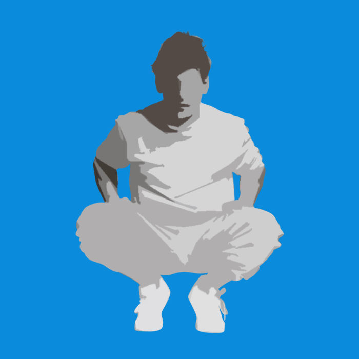 Illustration of man wearing athleisure