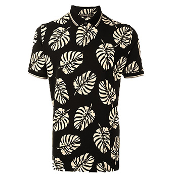 Men's Summer Clothes : Dolce & Gabbana Palm Tree Print Polo Shirt