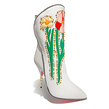 GUCCI	Embellished Floral Boot