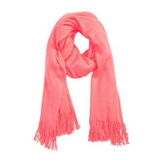 David & Young Neon Fringe Scarf
