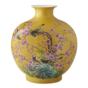 William Sonoma Hummingbird Ginger Jar Pom Vase