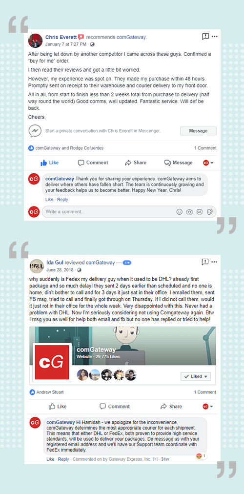 comGateway Facebook review