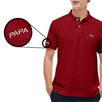 Lacoste Custom Polo in Red