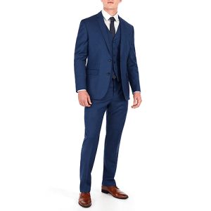 Classic Blue Wool-Blend Suit Jacket from Express