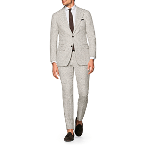 Havana Light Brown Check Suit from Suitsupply