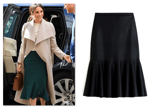 J.Crew trumpet skirt worn by Meghan Markle