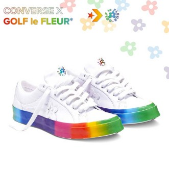 Sneaker collabs - GOLF le FLEUR x Converse Rainbow One Star Low Top Shoes